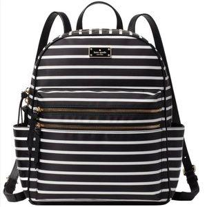 Kate Spade Black & White Striped Backpack